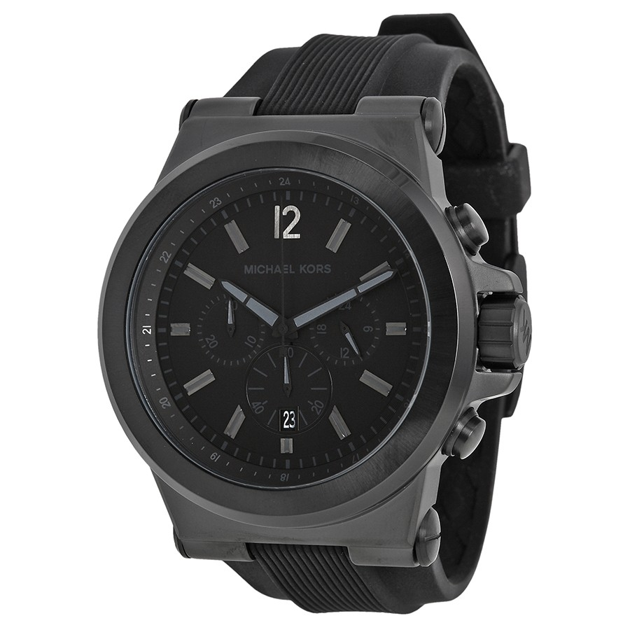 63b70731c204 MICHAEL KORS Dylan Black Silicone Strap Men s Watch - WatchMall