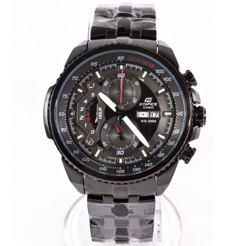 623cf4b62 Casio Edifice Chronograph EF-558 All Black Men's Watch - WatchMall
