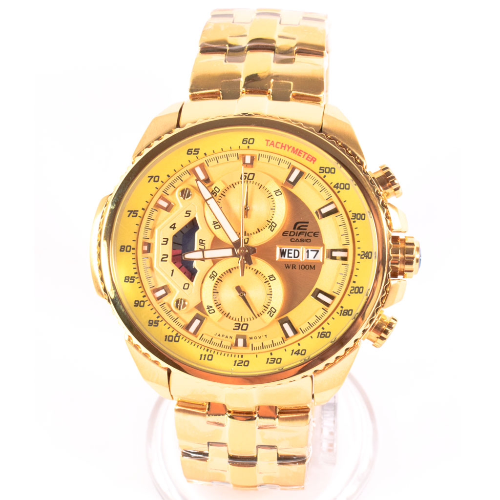 35f1f5eca Casio Edifice Chronograph EF-558 Gold Men's Watch - WatchMall