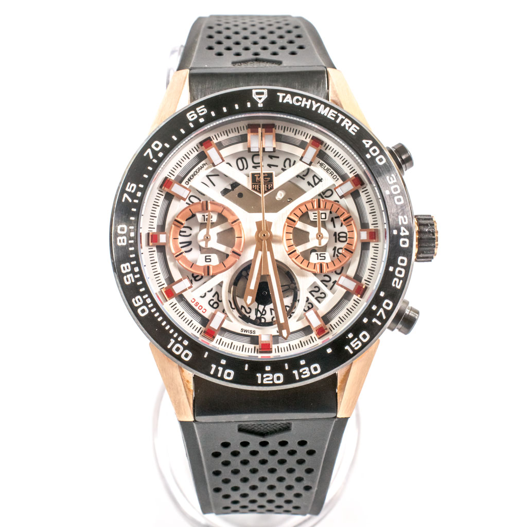 Tag Heuer Carrera Chronograph White Dial Men S Watch